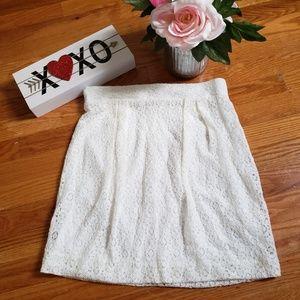 ☀️5/25 EVERLY white lace skirt szM